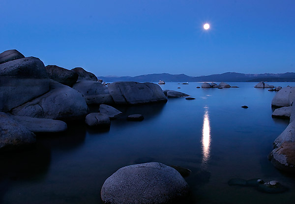 Moonset over Lake Tahoe. Click the image to continue.