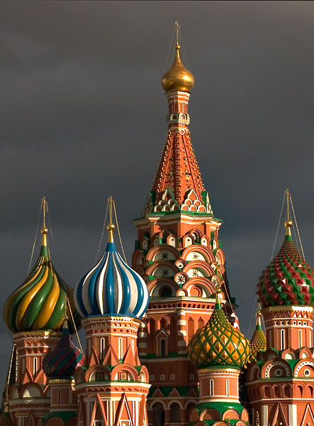 Colorful domes of St. Basil's Cathedral