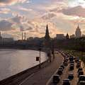 Kremlevskaya Naberezhnaya embankment and Moscow skyline